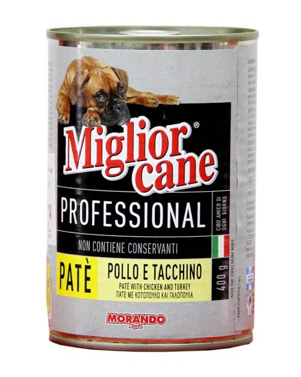 Morando Miglior Cane Chicken Turkey Pate Can Food For Dog 405gm