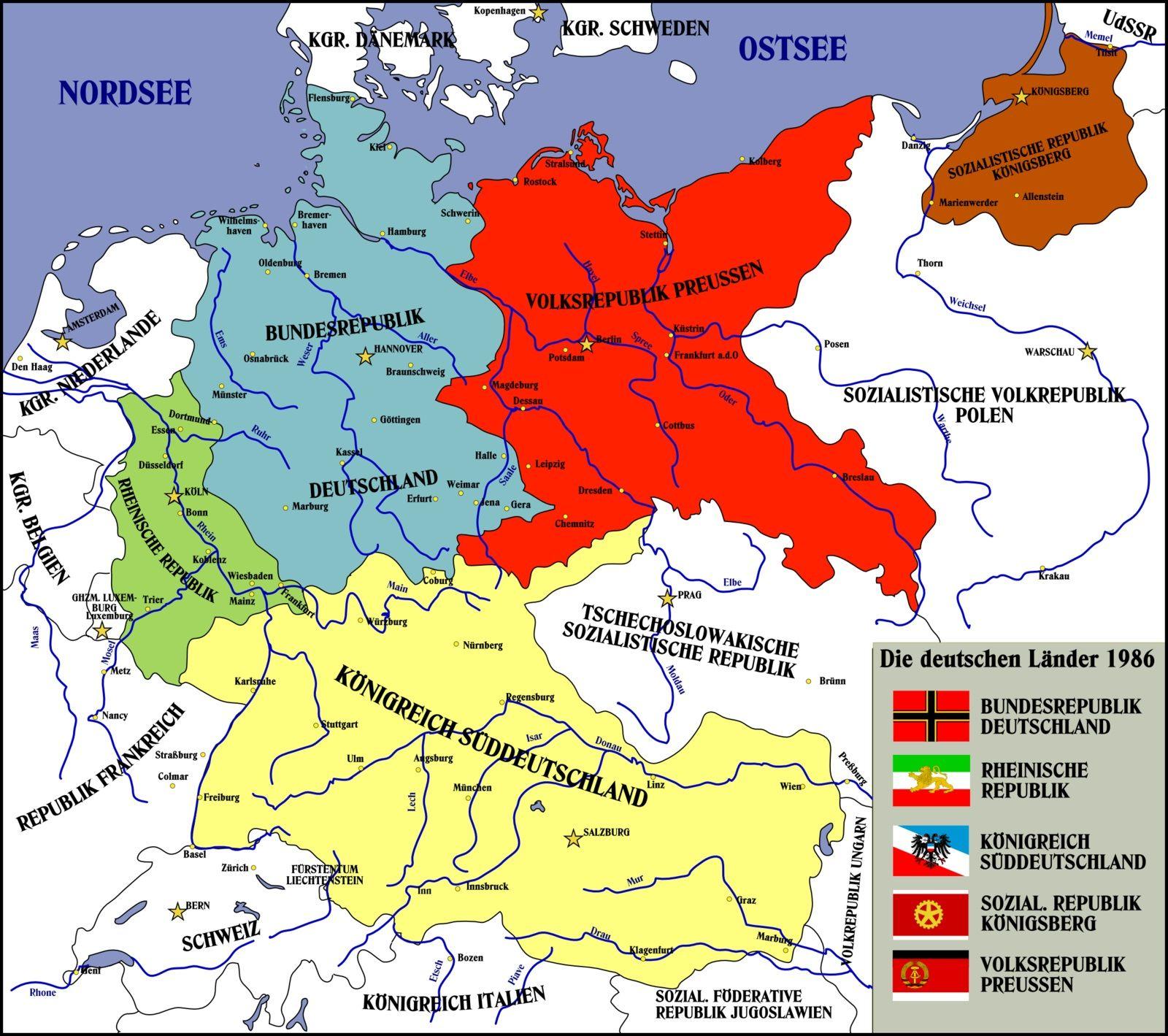Strange map of Germany that I found on the Internet