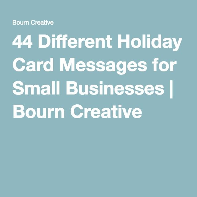 44 Different Holiday Card Messages For Small Businesses With