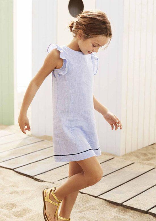 0f3aab183b Vestidos para niñas moda primavera verano 2018.