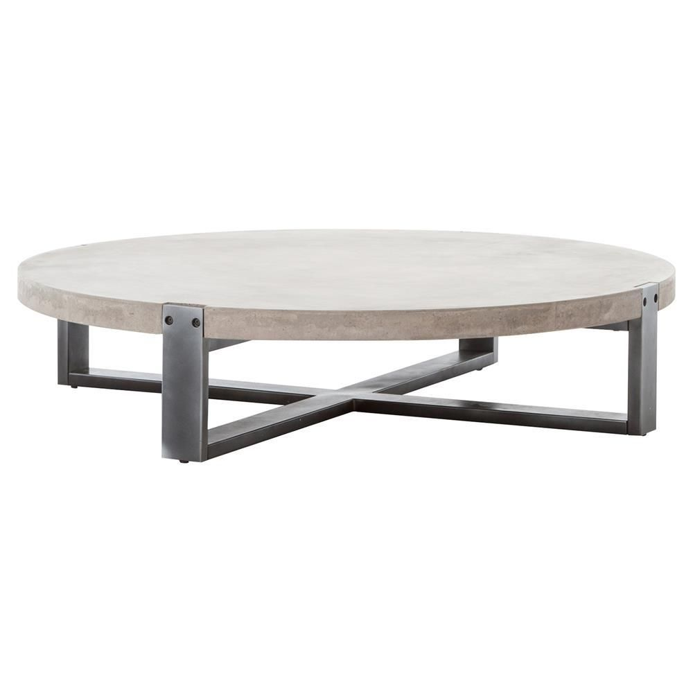 Metal Concrete 55 Round Coffee Table Concrete Coffee Table Round Coffee Table Low Coffee Table