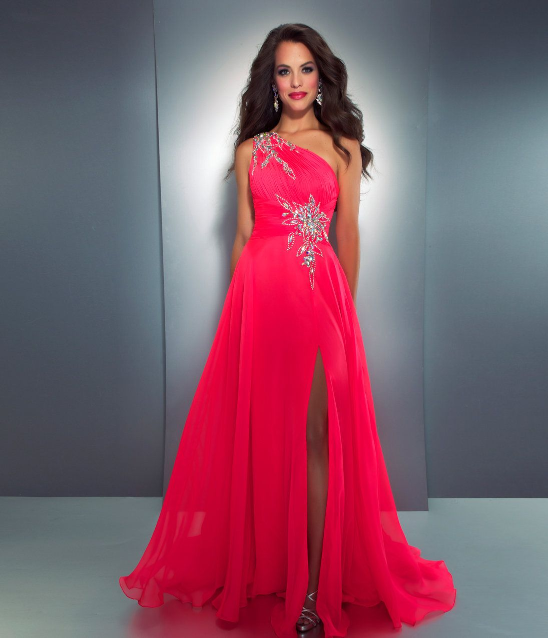 10 Best images about Neon on Pinterest - One shoulder- Pink prom ...