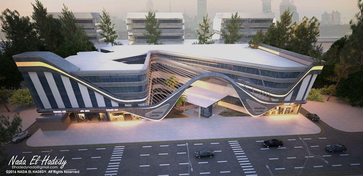 Umc Medical Center On Behance Hospital Architecture Hospital Design Architecture Architecture Exterior