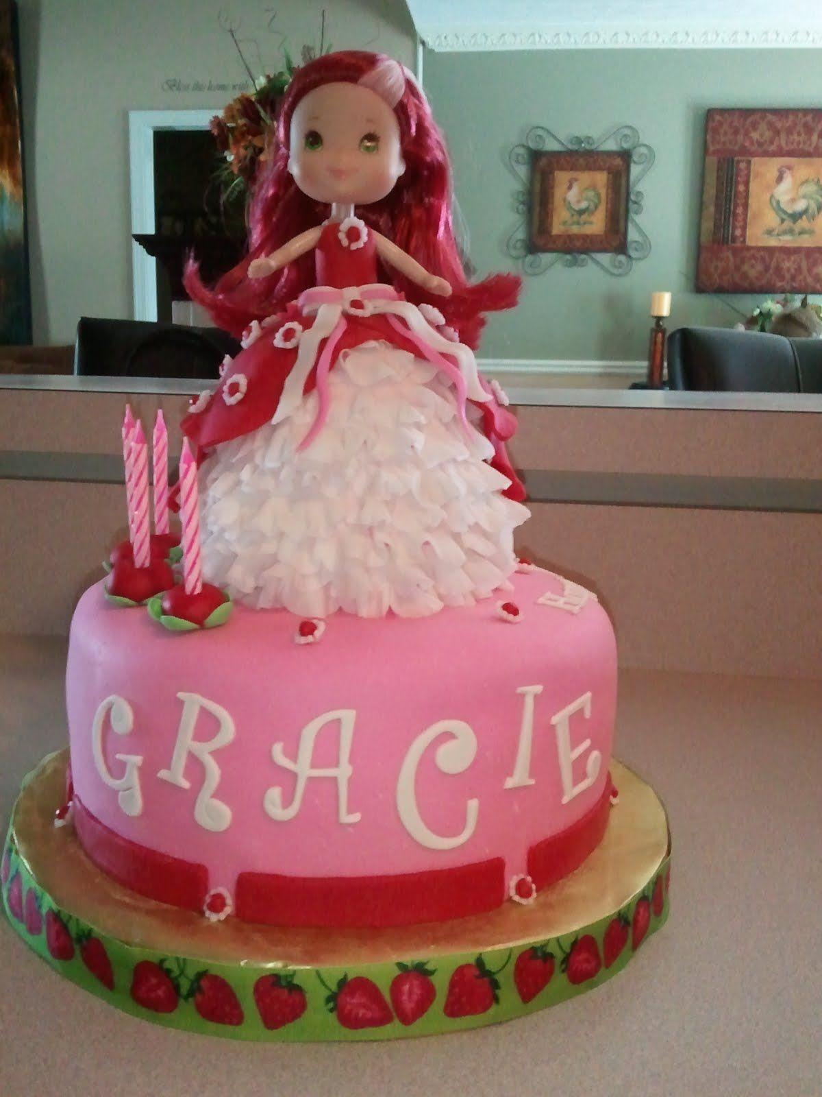 Strawberry Shortcake cake with ruffles