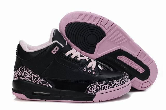 New Arrival Shoes Online Cement Air Jordan 3 III Retro Black Pink Womens  Shoes Popular Outlet