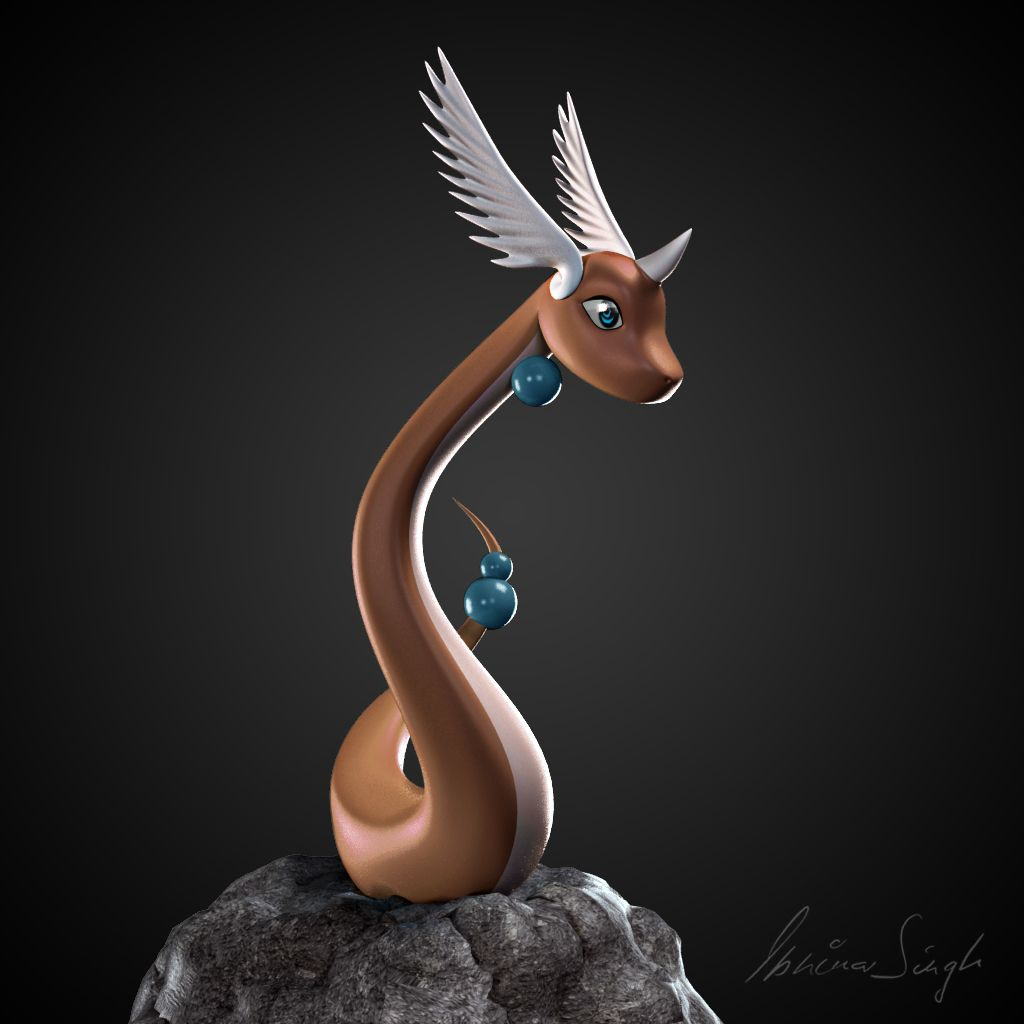 Cmivfx Character Concept Design Maya And Vray : D dragonair pokemon character modelled in maya rendered
