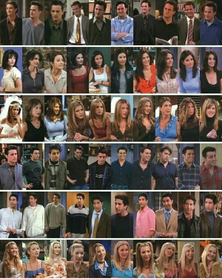friends series characters