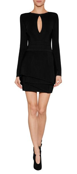 Balmain, Viscose Peplum Dress. Love this, love the fit, the classic lines, the neckline detail.