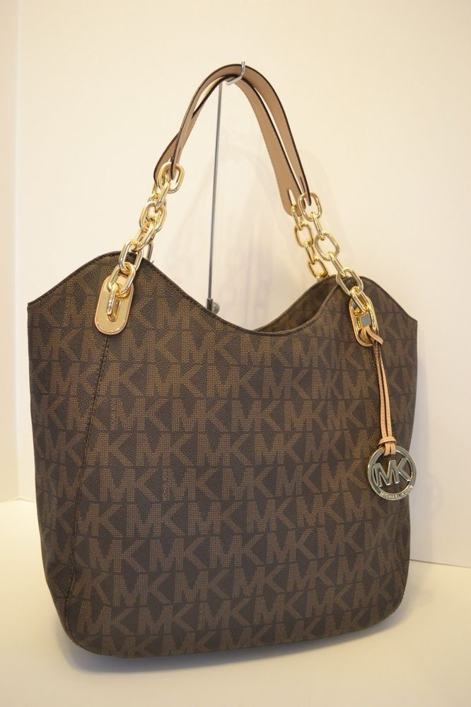 c50d540400 MICHAEL KORS LILLY LARGE TOTE SHOULDER BAG in BROWN  fashion  clothing   shoes  accessories  womensbagshandbags (ebay link)