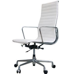 Delicieux Eames Aluminum Management Chair (High Back)   Eames Aluminum Group  Management Chair (High Back) Replicas And Reproductions (IVORY ANILINE  LEATHER)