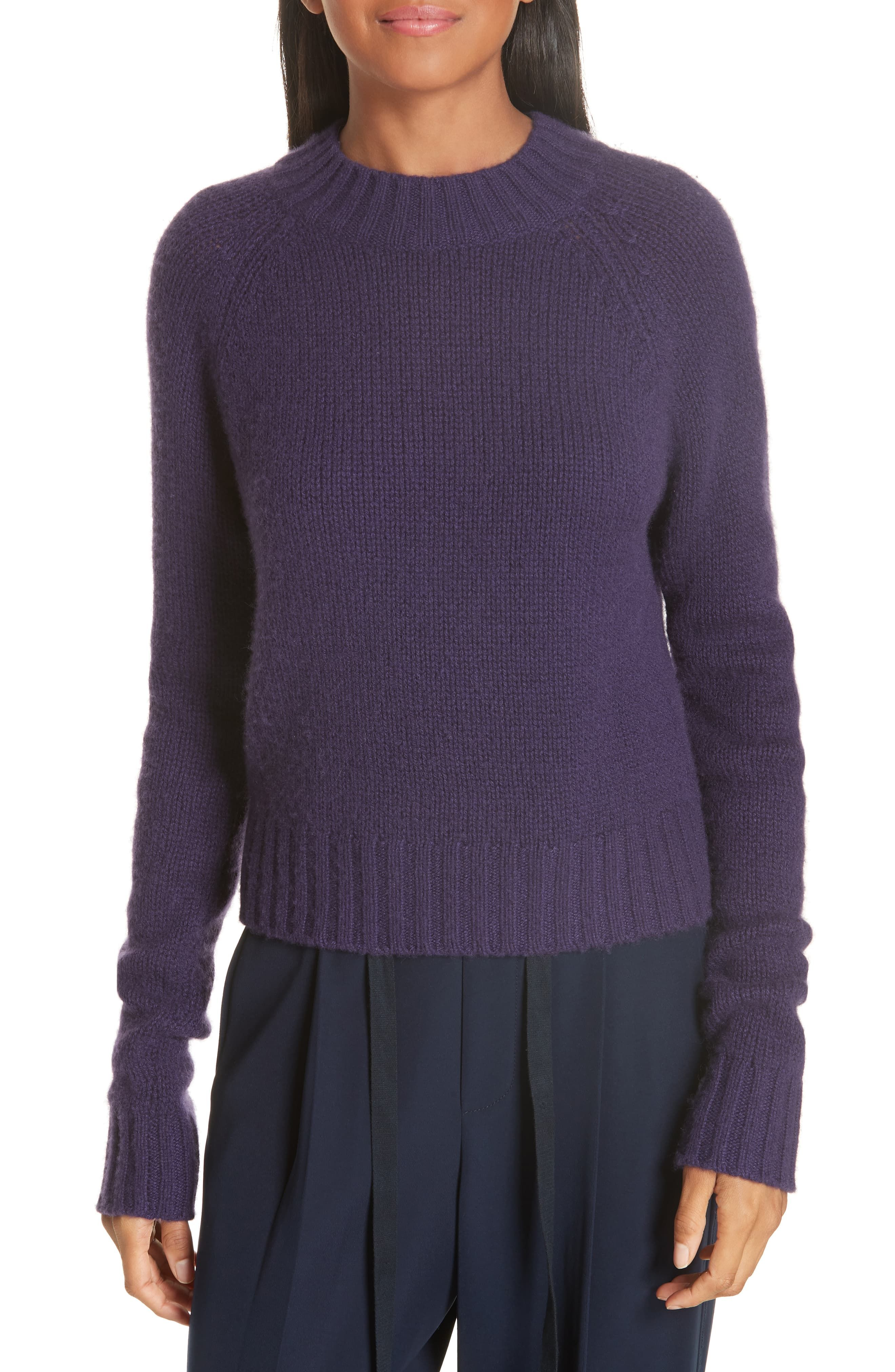 Cashmere blend wool rib knit long cardigan XS beige tops Lady's