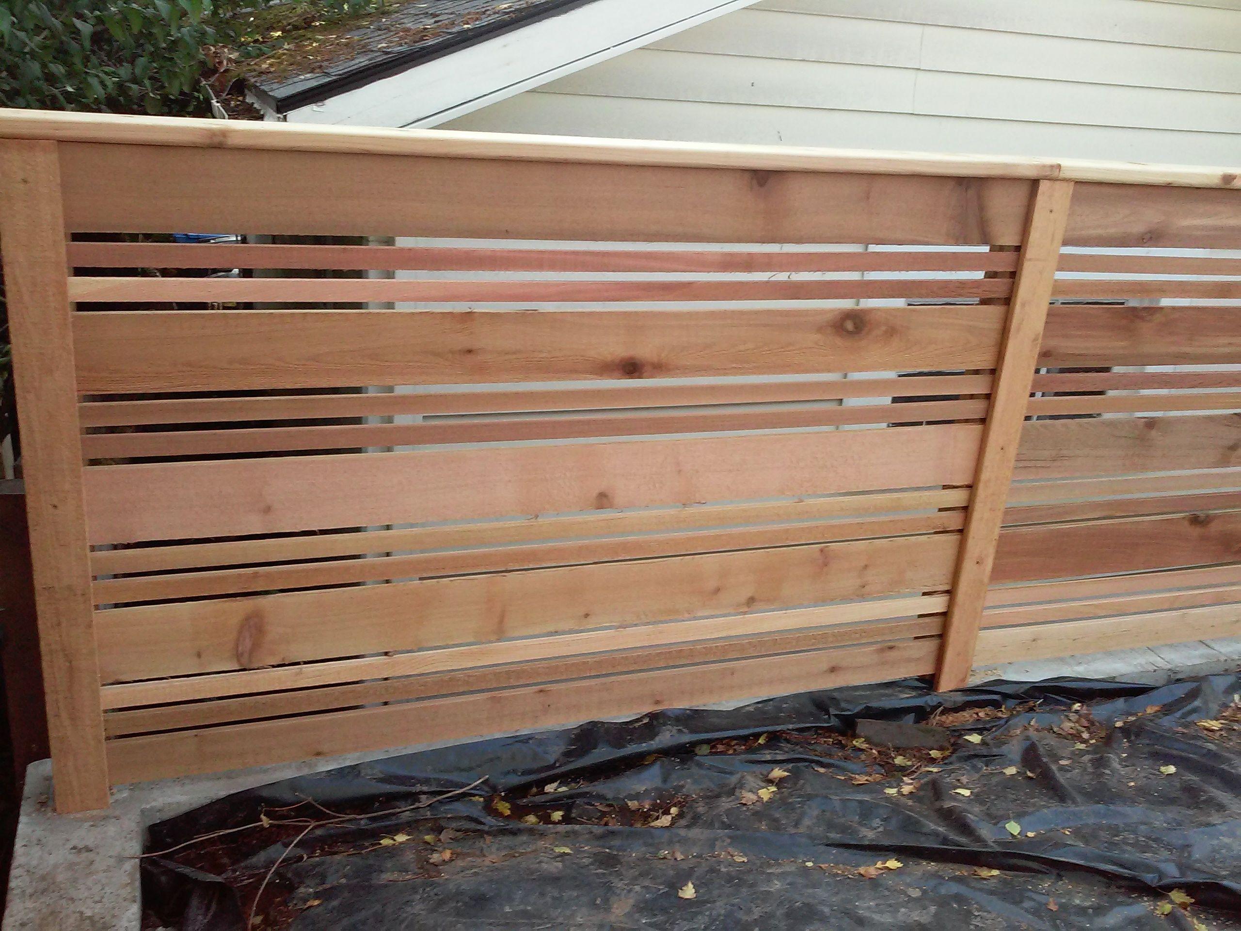 Custom Modern Horizontal Cedar Fence By Cedar Fences Llc Portland Or Cedar Fence Bamboo Fence Horizontal Fence