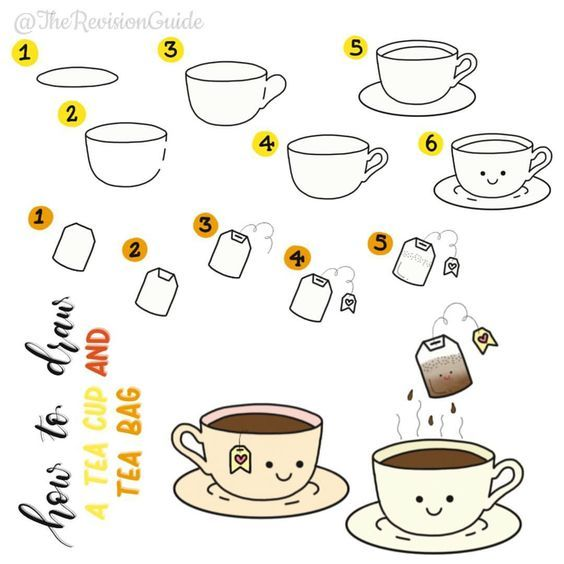 How to draw a Cup of Coffee | Coffee Cup Easy Draw Tutorial
