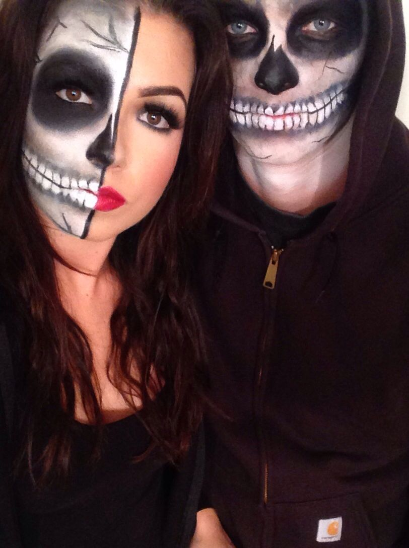 skeleton couple. halloween 2014 #makeupbynik | makeupbynik in 2018