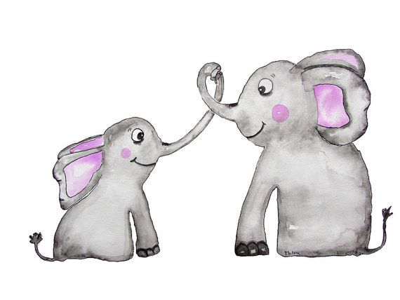 Kinderzimmer Poster Elefanten von bymarlenelangner auf Etsy