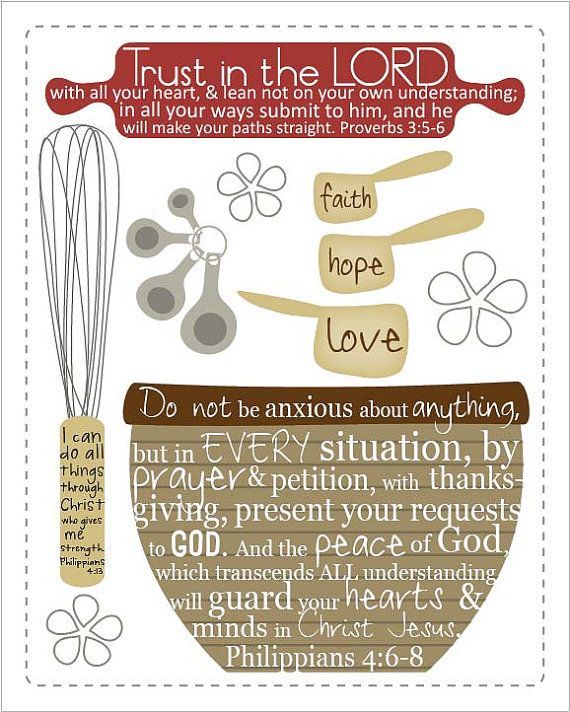 Bible Quotes For The Kitchen: Scripture For The Kitchen.