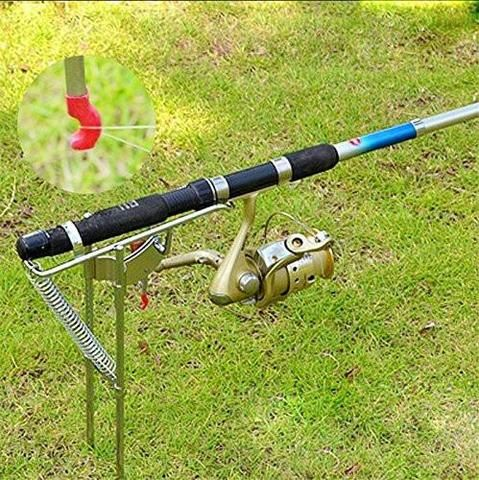 """Hook Setter's Double Spring Auto """"Activated"""" Fishing Rod Bracket"""