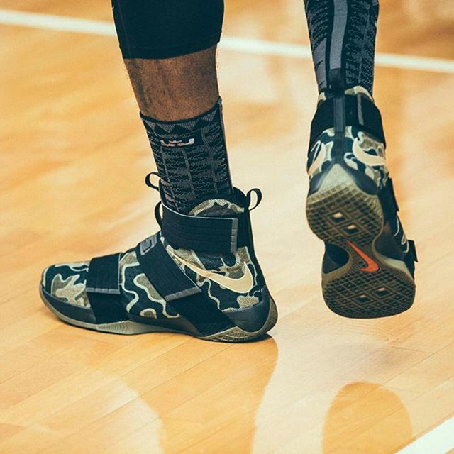 4d3214a7f6fa6 Built for battle. The Nike Zoom LeBron Soldier 10 'Camo'. Available now on  nike.com ⠀⠀⠀ ⠀ --- ⠀⠀⠀ ⠀ #Nike #Basketball #LeBron