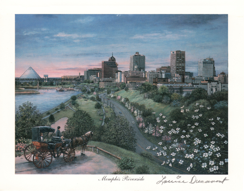 Memphis Art Memphis Riverside by Louise Dunavant
