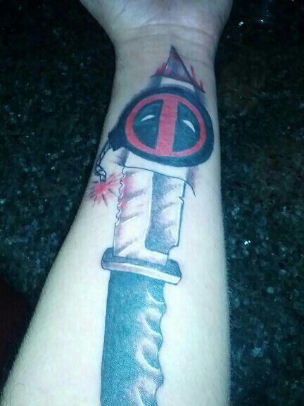 My deadpool tattoo by Bobby Albright