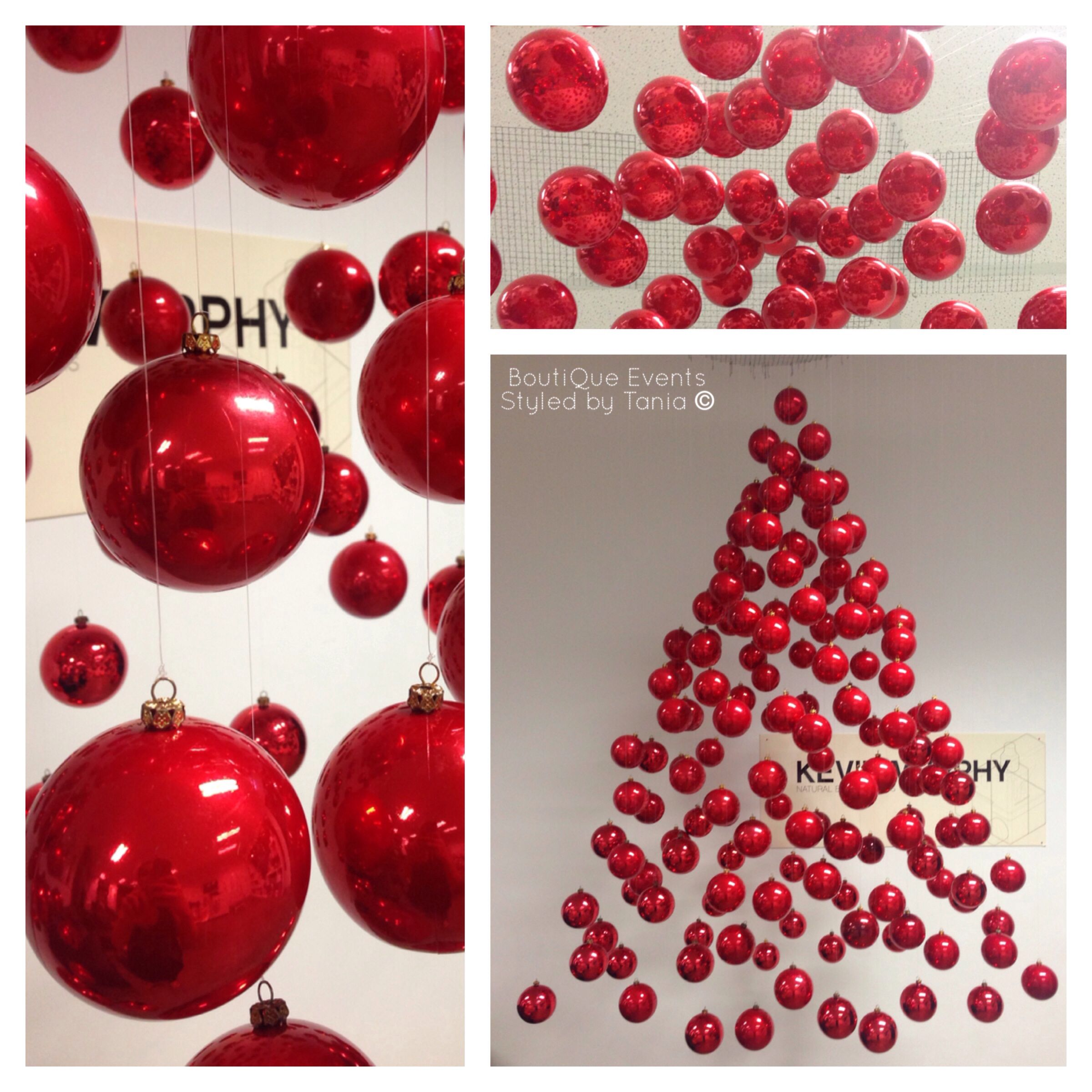Suspended christmas tree decoration for hair salon shop for Salon xmas decorations