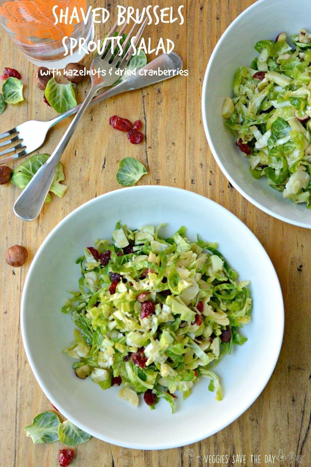 Shaved Brussels Sprouts Salad With Hazelnuts And Dried Cranberries