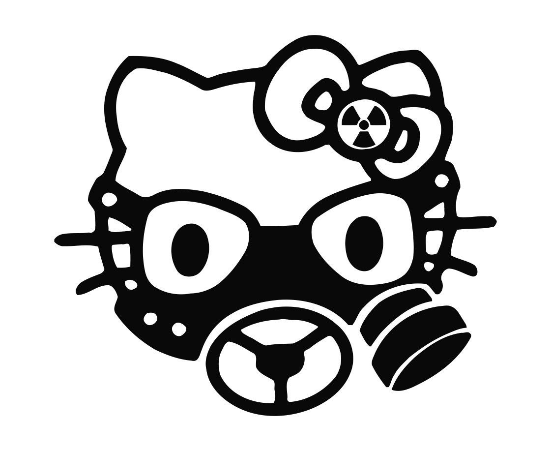 Gas Mask In White Car Or Laptop Decal Vinyl Sticker Colour Choice For Window
