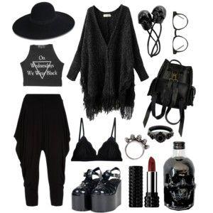 Casual Witch Skulls Clothes Fashion Alternative Fashion