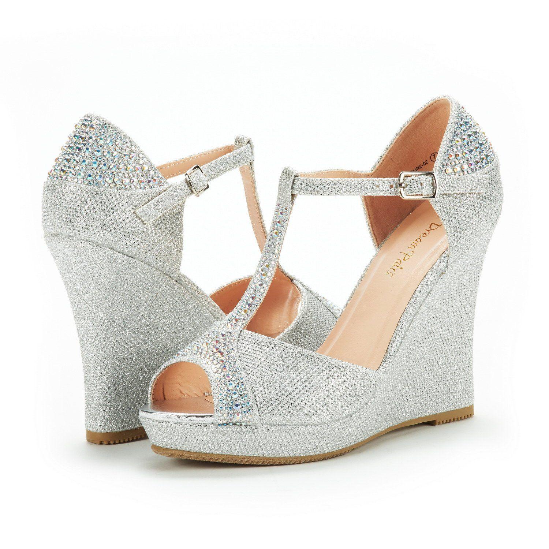 233f3edce5a4a Amazon.com | DREAM PAIRS Women's Angeline-02 Silver Glitter Fashion ...