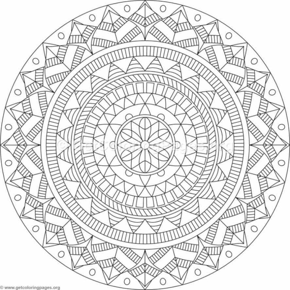 Tribal Mandala Coloring Pages 94 Getcoloringpages Org Mandala Coloring Pages Paper Embroidery Geometric Coloring Pages