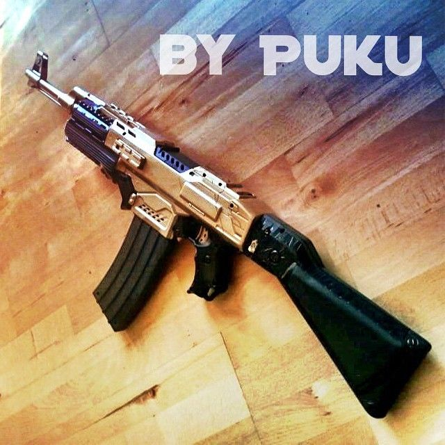 Instagram media by blastaway.eu - very nice AK-47 by >>> @pukutainment <<< no 3D parts in the front section! ^_~ #nerf #nerfmodding #dartblaster #nerfgun #ナーフ #cosplay #anime #scifi #nerfmods