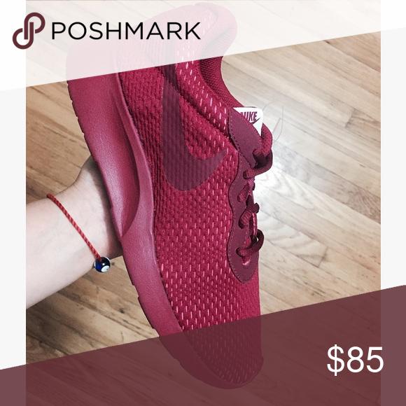 379b60d57bd Nike tanjun premium women s Burgundy sneakers •Brand new •Authentic •Box  not included •
