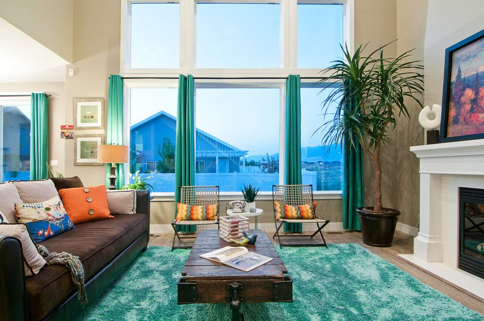Fabulous turquoise curtains decorating ideas for living - Turquoise curtains for living room ...