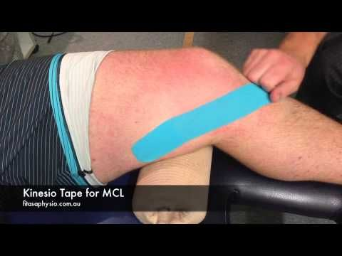 How To Tape Medial Collateral Ligament Mcl With Kinesio Tape Sports Strapping Tape Youtube Kinesio Taping Kinesiology Taping Knee Taping