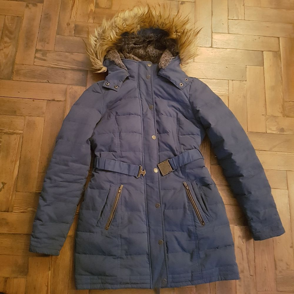 3f37ce39a FAT FACE Down & Feather Ladies Blue Puffa Coat UK Size 10 #fashion ...