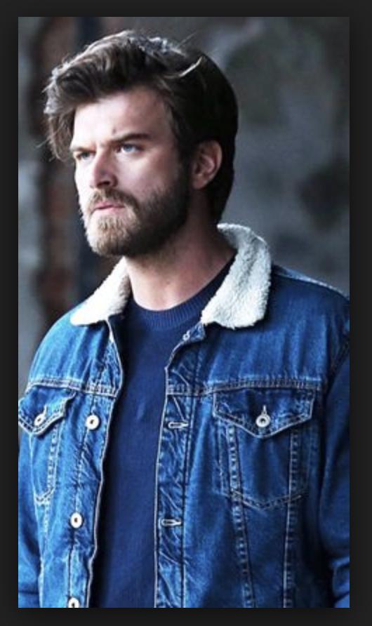Kivanç Tatlitug Cesur ve Guzel Cesur Mavi Jacket Blue Faux Fur Color Denim  Jacket Men Style