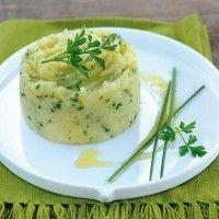 Purée de pommes de terre à l'huile d'olives et aux herbes