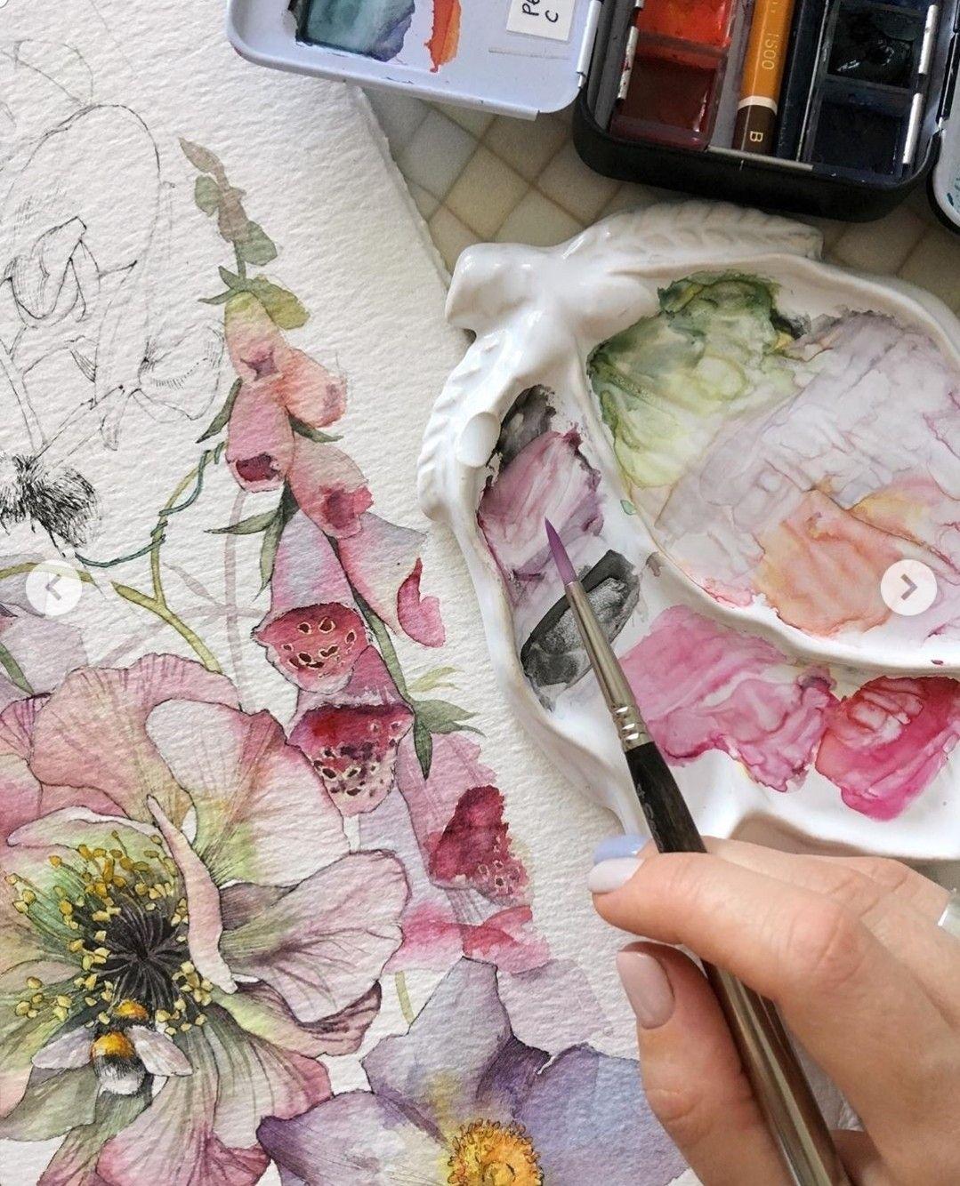 Image Par Francoise Rainville Sur Fleurs Aquarelles Carnets De