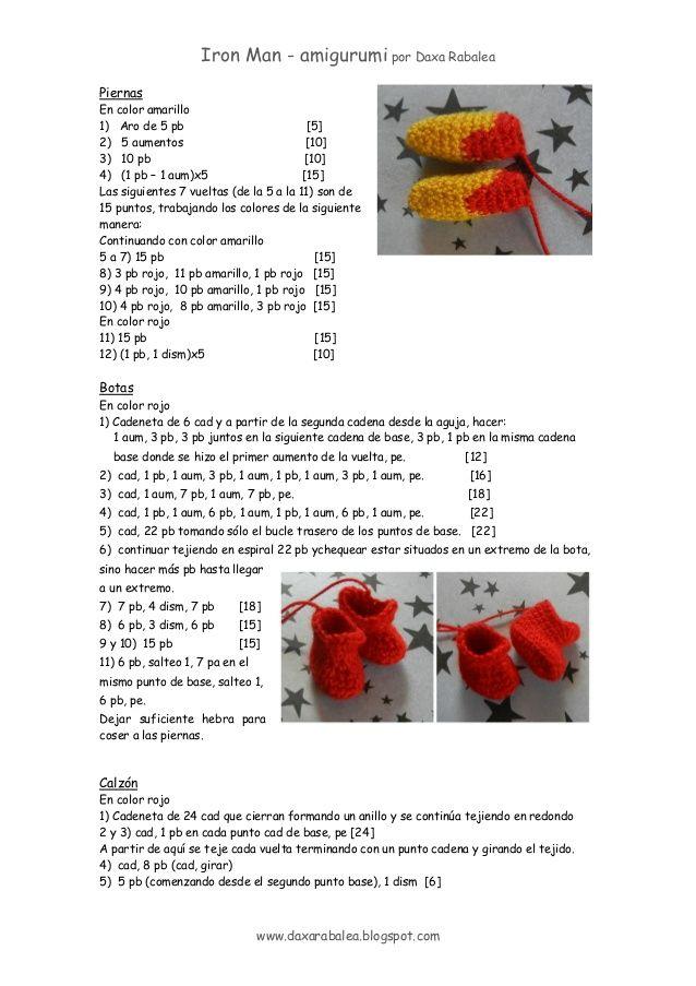 Patron Iron Man - amigurumi | Poupées en crochet | Pinterest ...