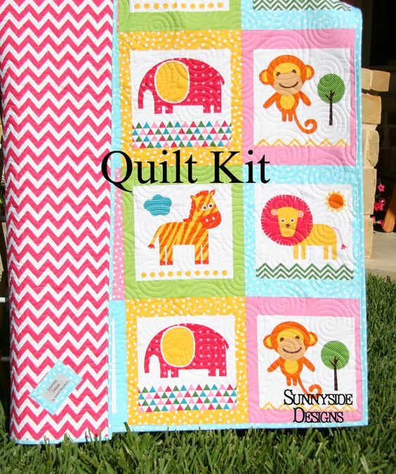 Image result for robert kaufman baby quilt animals