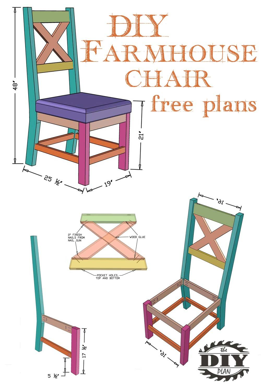 Free Plans For Farmhouse Chair Visit Our Website For