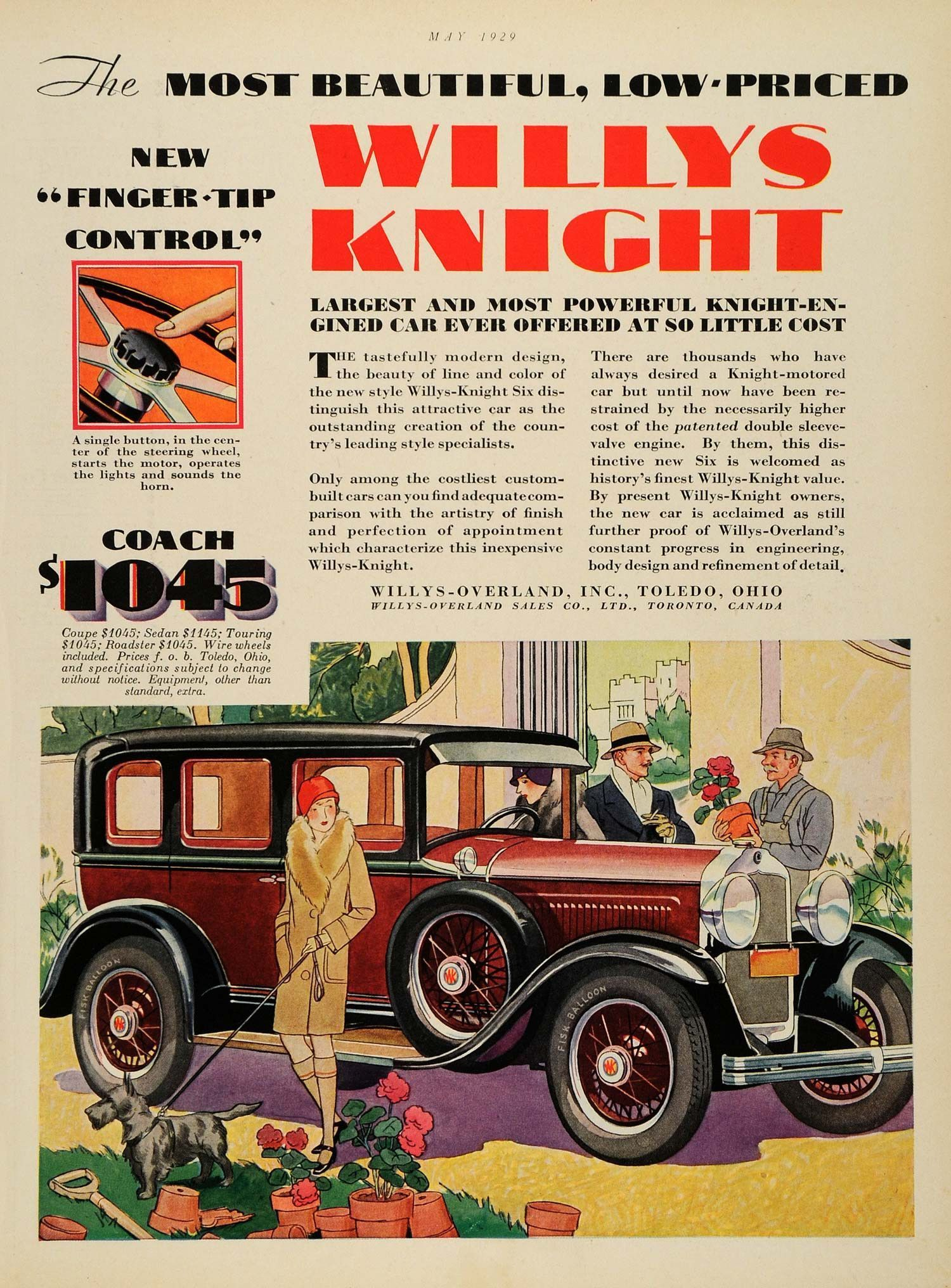 1929 Ad Willys Knight Willys Overland Toledo Ohio Six Automobile