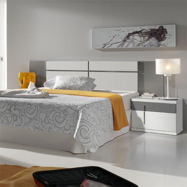 Dormitorio Matrimonio Blanco y Gris | Diseño | Pinterest ...