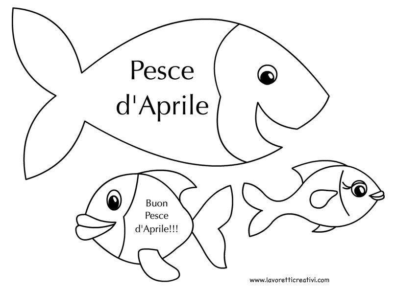 1 aprile disegni pesce aprile da colorare arts poissons for Disegni pesci da ritagliare