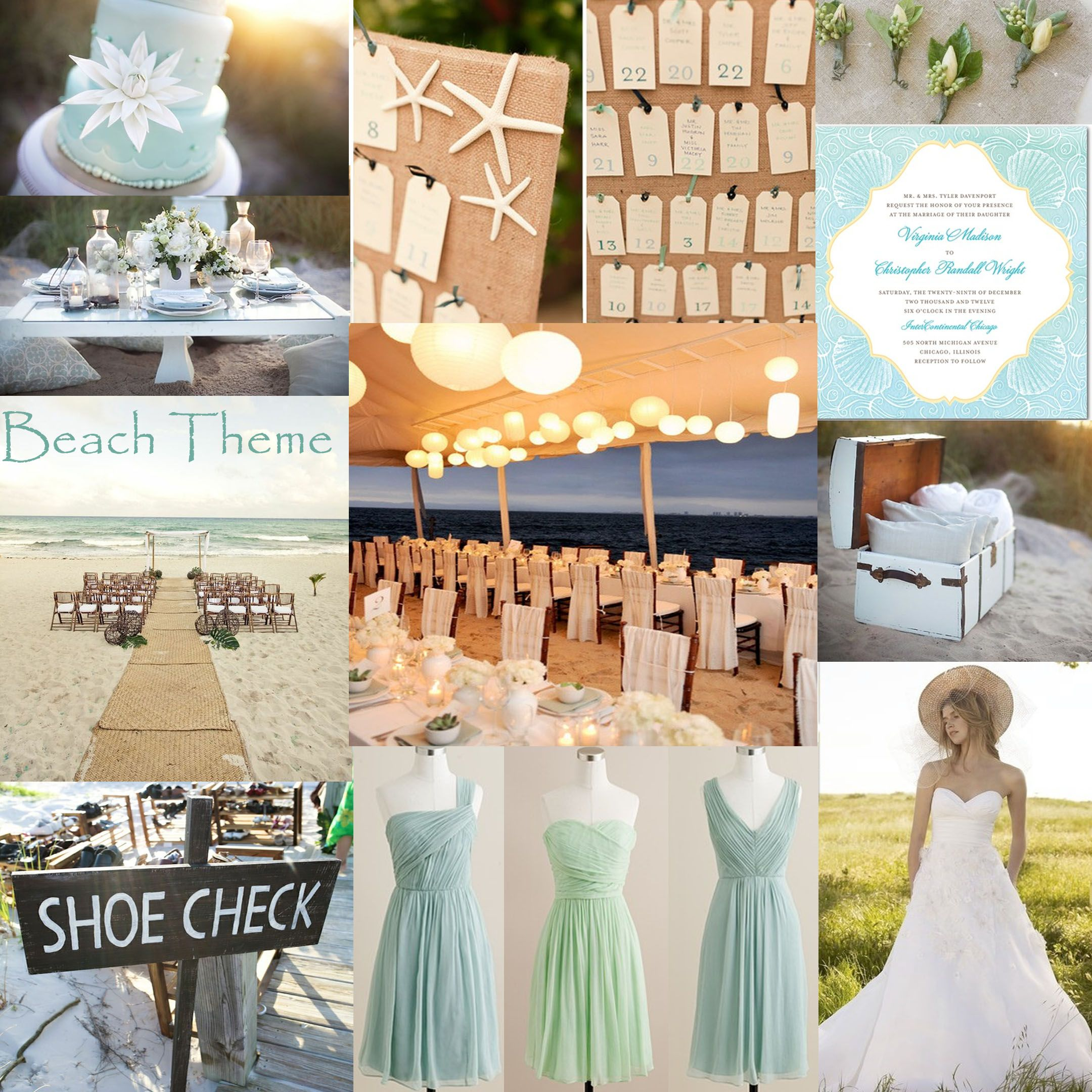 Beach Wedding Reception Ideas: Beach Theme Wedding