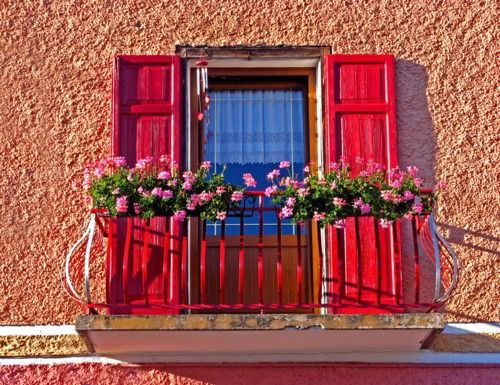 Pink Red Coral All Beautiful Cool Doors Red Windows Garden Windows