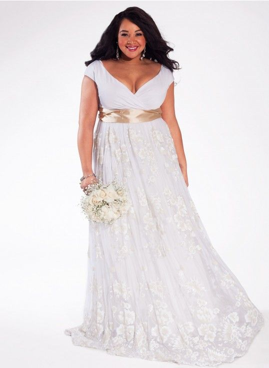 Curvalicious Clothes New Arrivals Eugenia Vintage Plus Size Wedding Gown