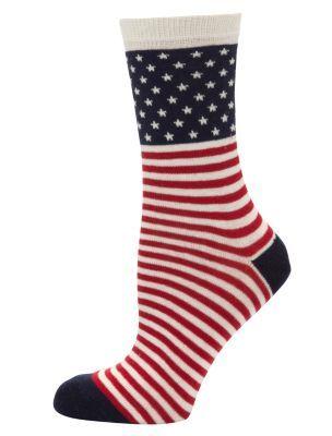 American Flag Print Socks #NLHoliday