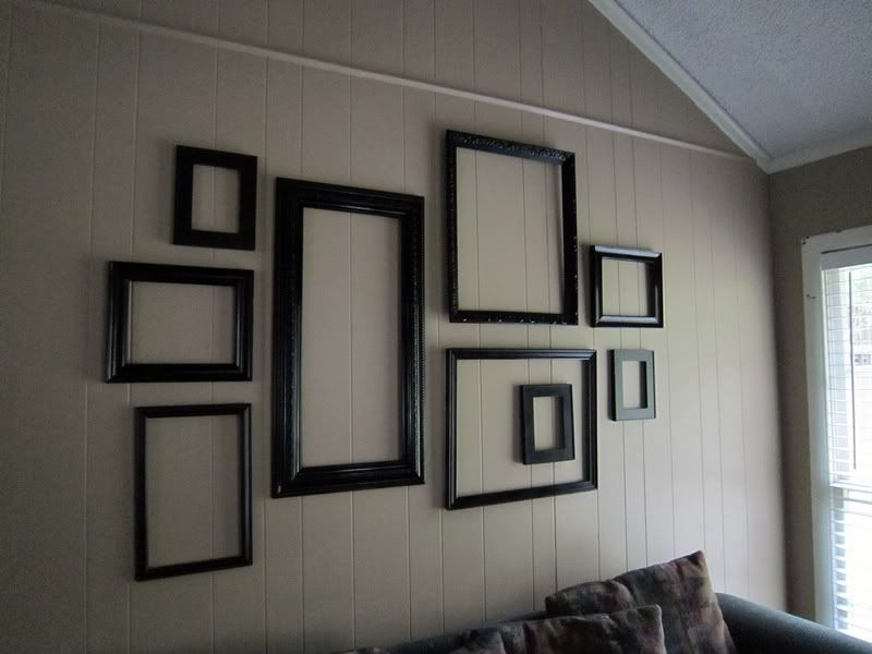"Frames On Wall message boards - ""home decor: clusters of empty frames hanging on"