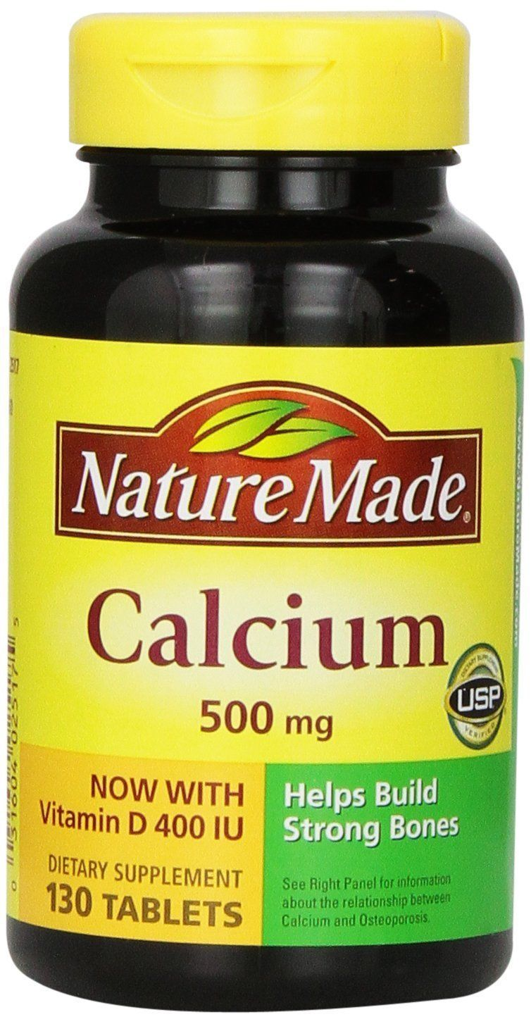 Nature Made Calcium, 500 Mg, With Vitamin D, Tablets, 130